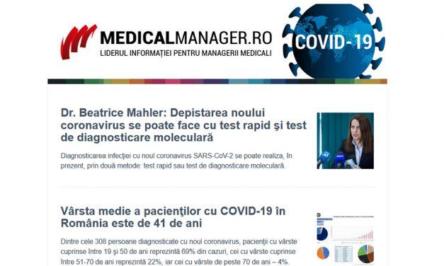 COVID-19: știri, analize, interviuri și infografice actualizate în timp real, din domeniile Health și Business. Newslettere zilnice, informații verificate, 7 zile din 7.