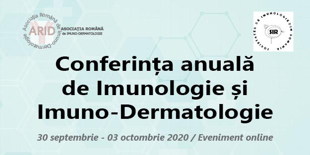 Conferința anuală de Imunologie și Imuno – Dermatologie, ediția 2020: 30 septembrie – 3 octombrie, online