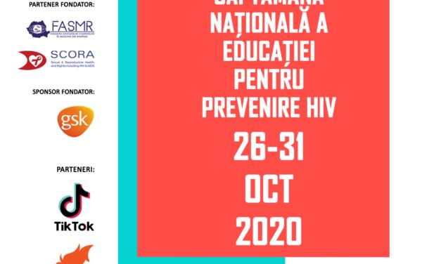 Se lansează în România SNEP HIV – Săptămâna Națională a Educației pentru prevenire HIV, 26-31 octombrie