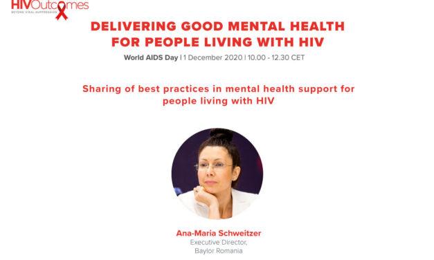 Ana-Maria Schweitzer, Fundaţia Baylor Marea Neagră: Urmărim să îmbunătățim abilitățile de autogestionare a stării de sănătate a pacienților care trăiesc cu HIV