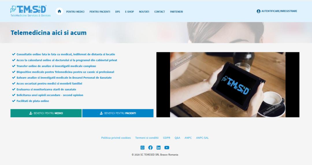 TEMESED.RO, Platformă multifuncțională de telemedicină